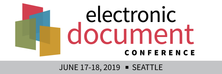 The Electronic Document Conference 2019 Seattle - Doing more with PDF - June 17-18, 2019 - Picture