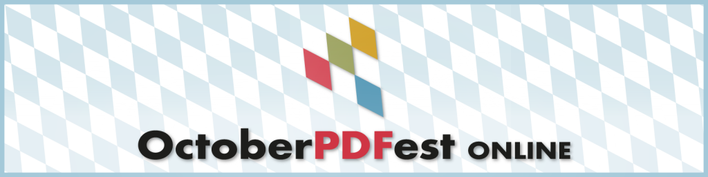 PDF Association - OctoberPDFest Online 2020 - Banner