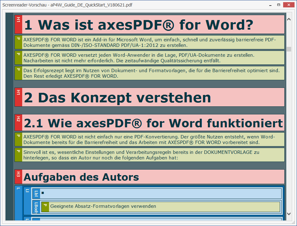 NewFormat AB - OpenFormat - «Access for all / Zugang für alle» - PDF