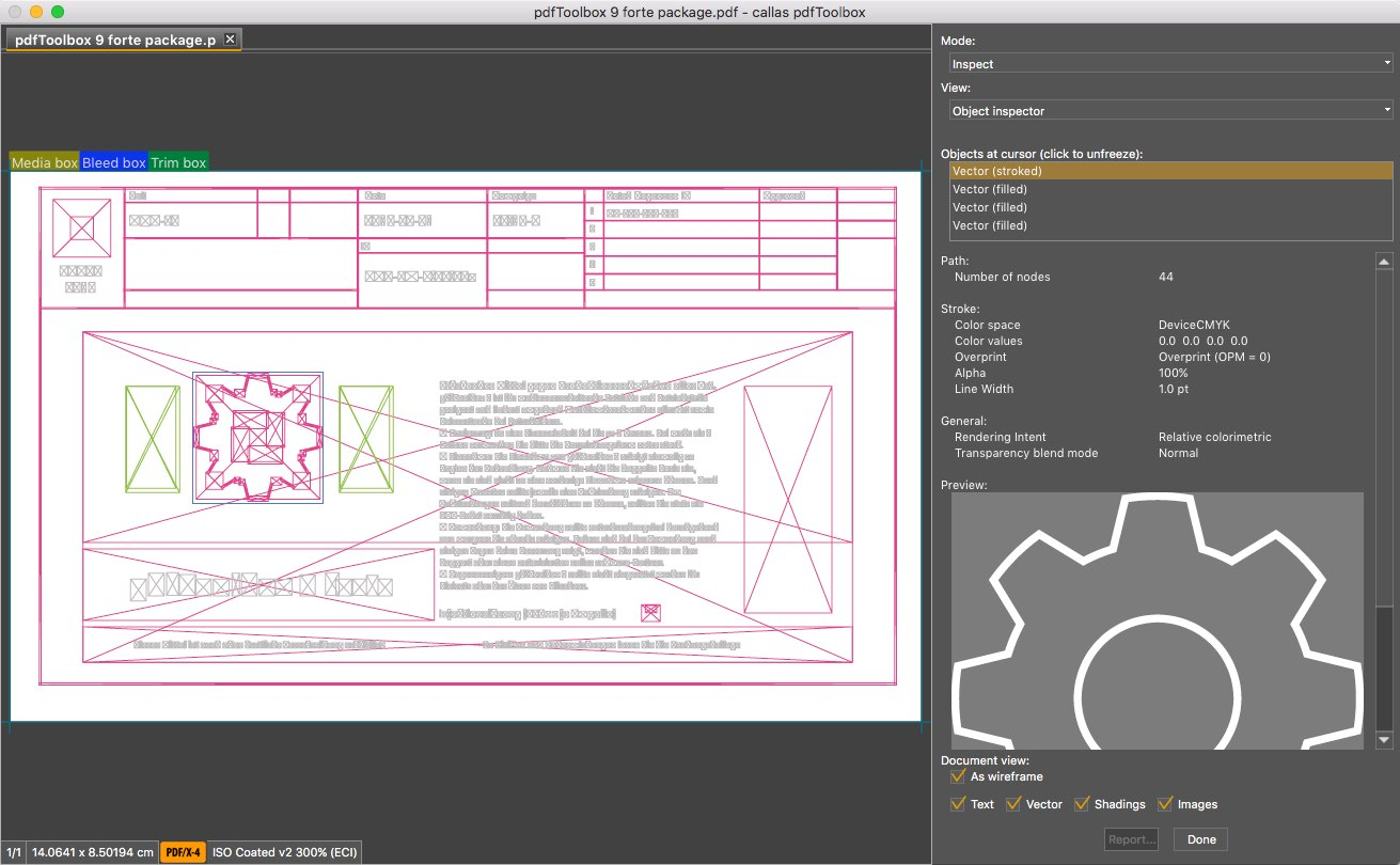 callas software pdfToolbox - Object Inspector - Wireframe - Picture