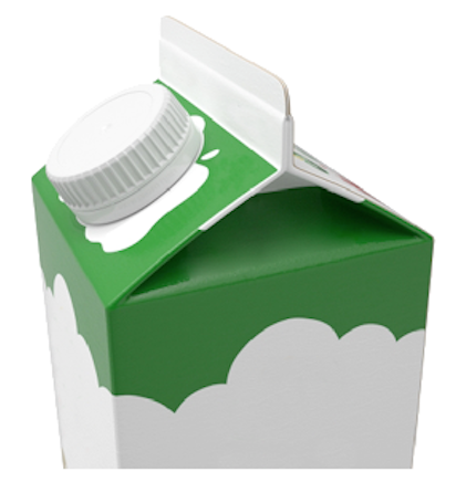 iC3D Carton Fold  - Milk Package Box with Cap - Picture