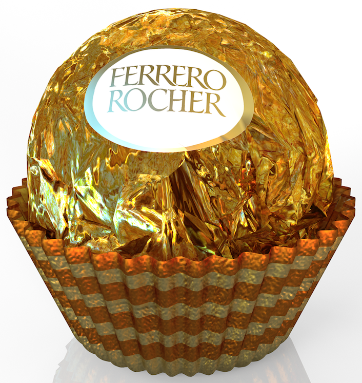 iC3D - Crinkle, Crumple, Dent, Bash  - Food - Ferrero Rocher Cake - Picture