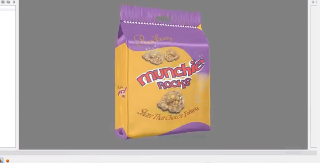 Creative Edge Software - iC3D Suite Special Effects - Attach Adobe Illustrator Artwork to 3D Flexible Foiled Bag - Bild
