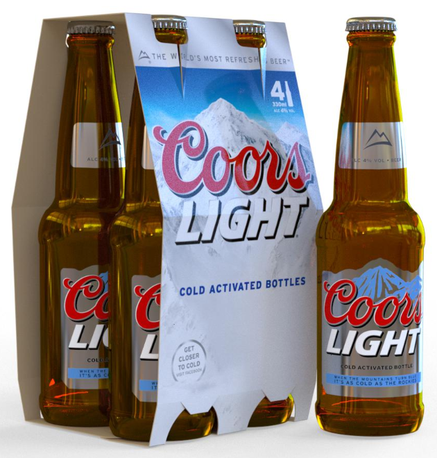 iC3D Opsis Model - Beer Bottles - Coor Light - 4-Pack - Picture
