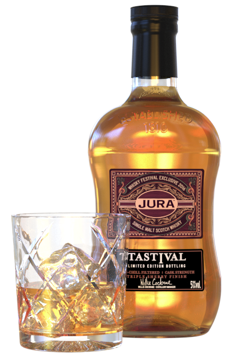 iC3D - Jura Whiskey Glass and Bottle - Picture