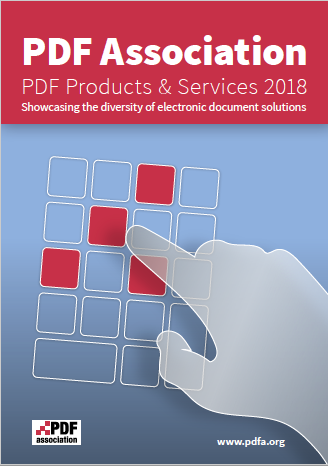 PDF Association Products and Services Guide 2018 - Front Cover - Picture